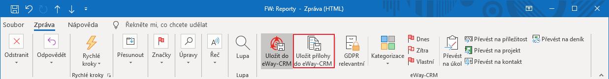 Uložit přílohu do eWay-CRM