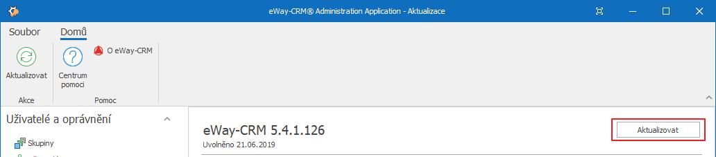 Aktualizovat eWay-CRM