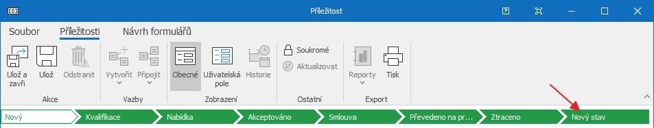 Workflow s novým stavem