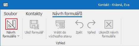 Návrh formulářů
