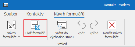 Ulož formulář