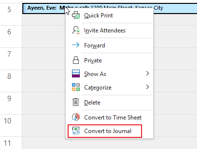 Convert Calendar to Journal