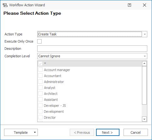 Create Task Action