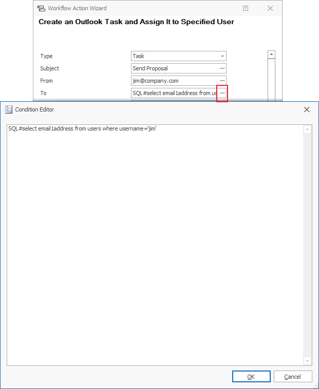Create Task Action Example