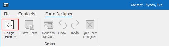 Open Form Designer
