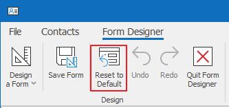 Reset to Default