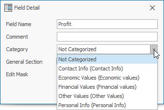 Custom Fields Categories