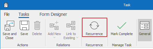 Task Recurrence