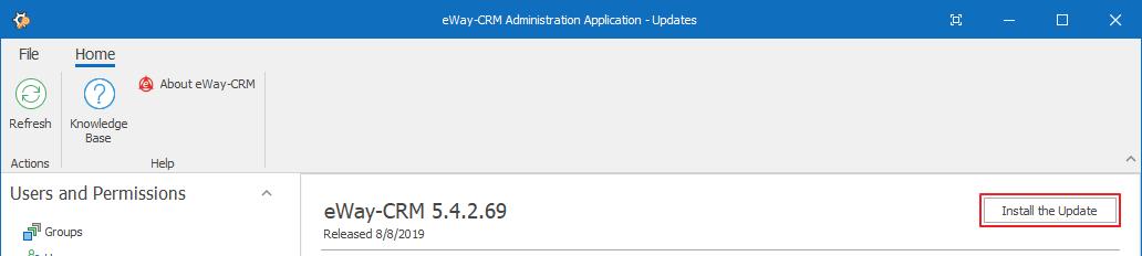 Update eWay-CRM Web Service