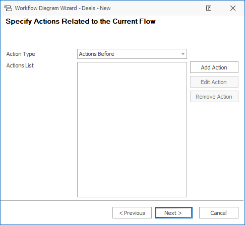 Set Actions for New Flow