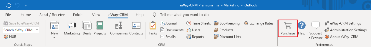 Purchase eWay-CRM