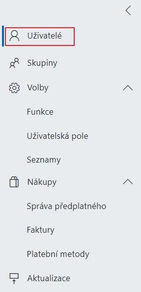 Sekce Uživatelé