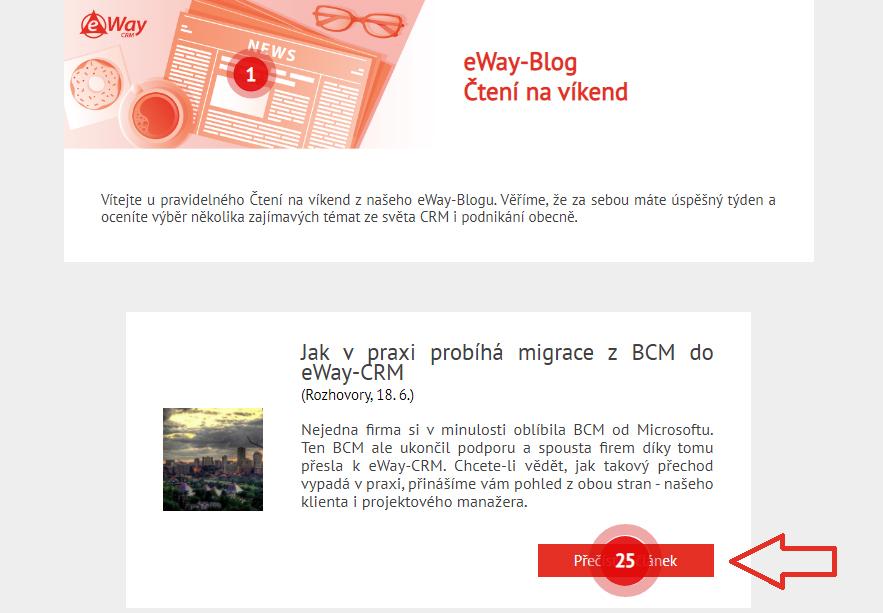 eWay-CRM marketingová heatmapa