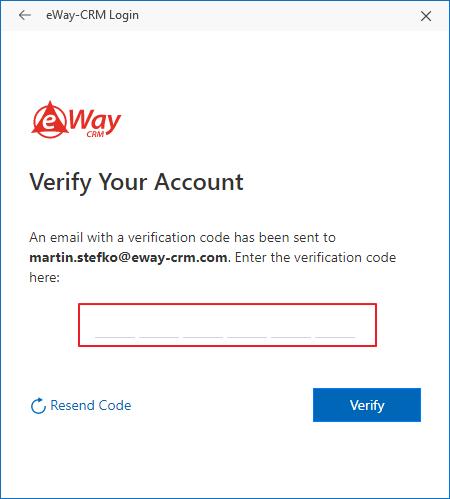 Verify the Account