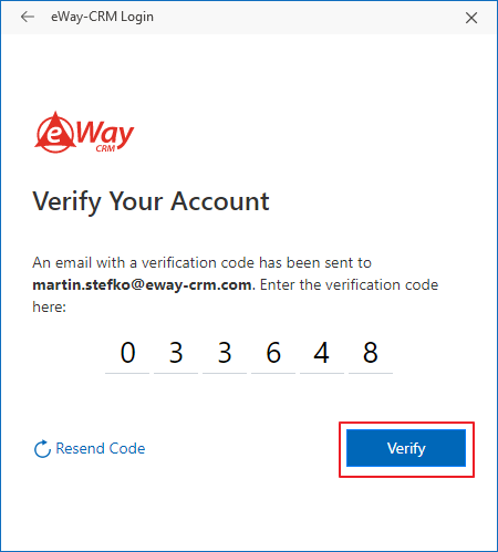 Set Verification Code