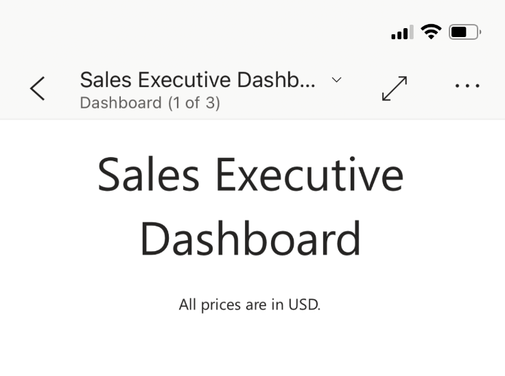 PowerBI for iOS and Android