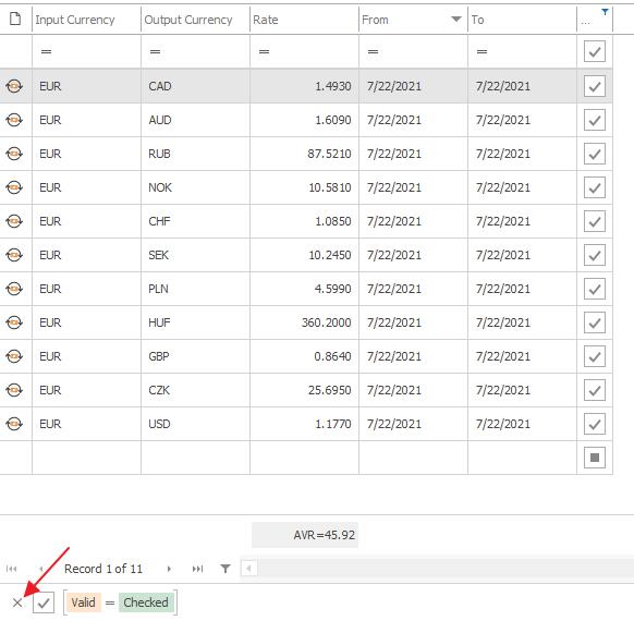 Exchange Rates Filter